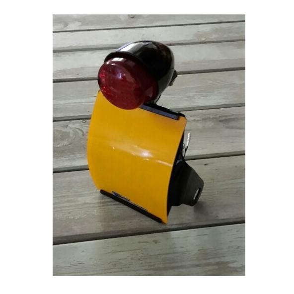 Side mount number plate holder kit